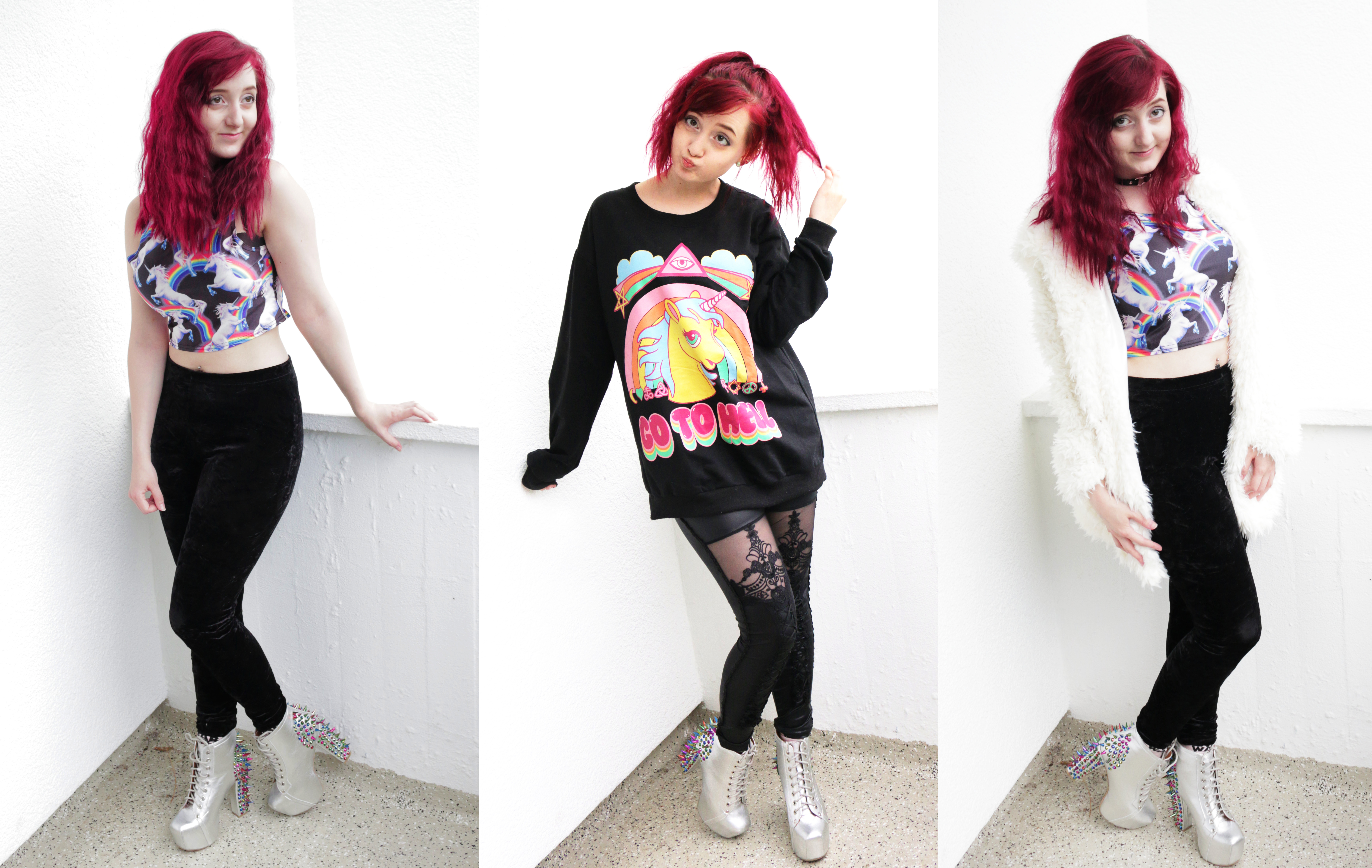 3 Einhorn Outfits
