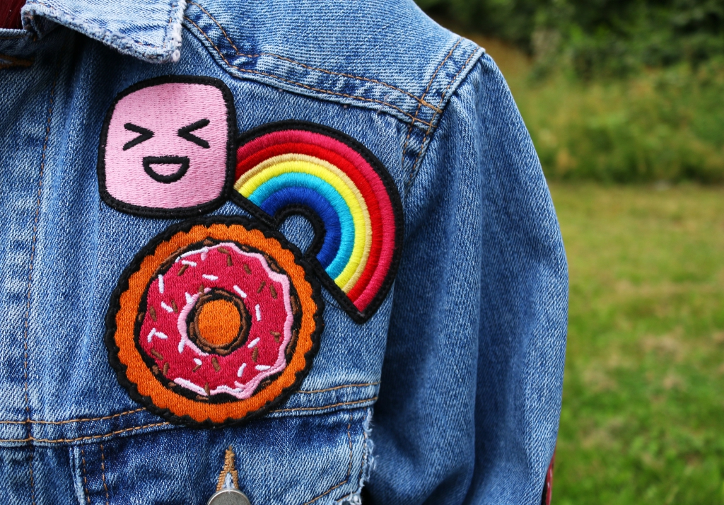 Girlfriend Jeansjacke Front Outer Space Style