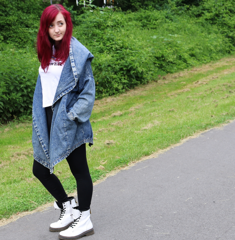 Jeansjacke Binden Outer Space Style