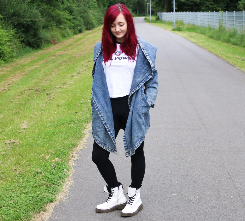 Jeansjacke Binden Front Outer Space Style