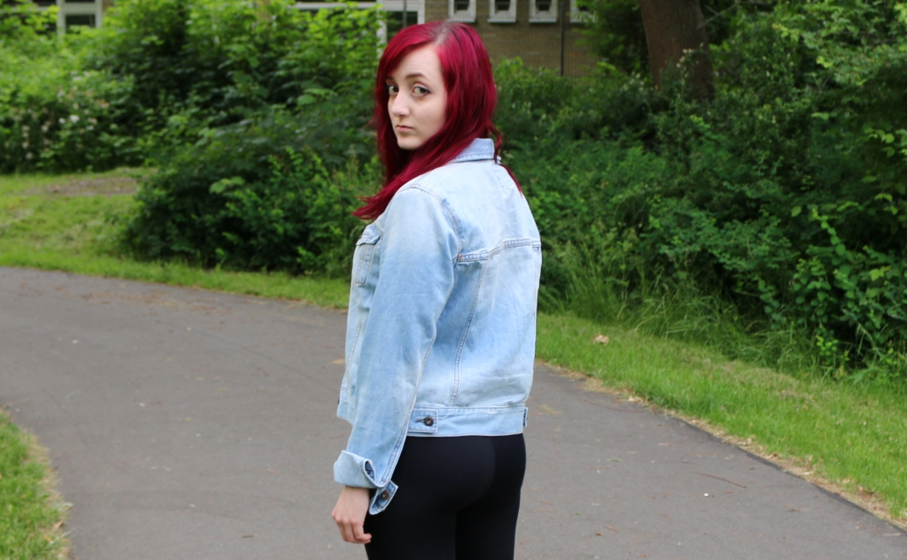 Jeansjacke Schlicht Casual 2 Outer Space Style