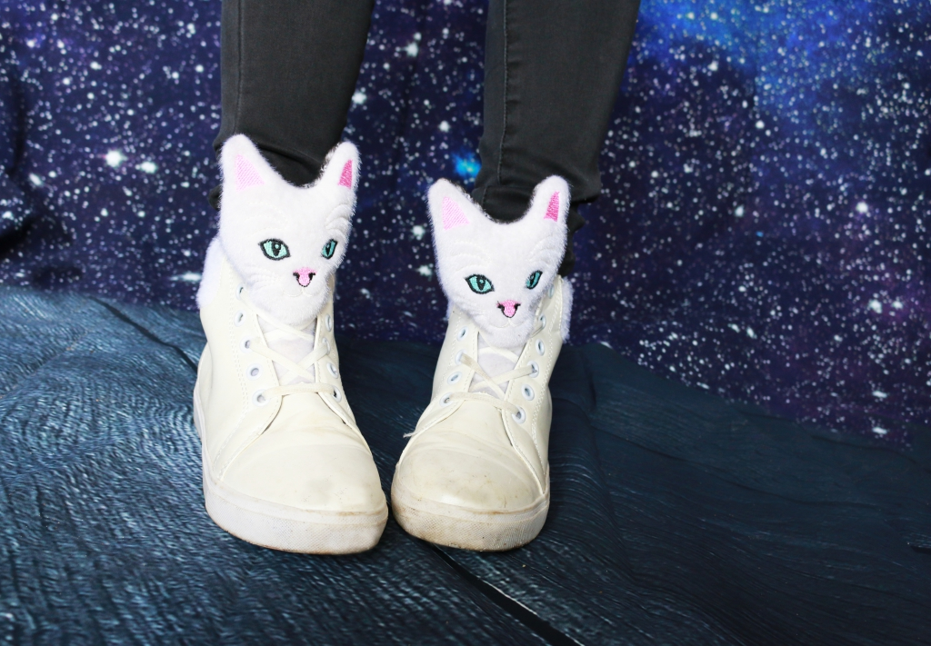 outerspacestyle cat sneakers