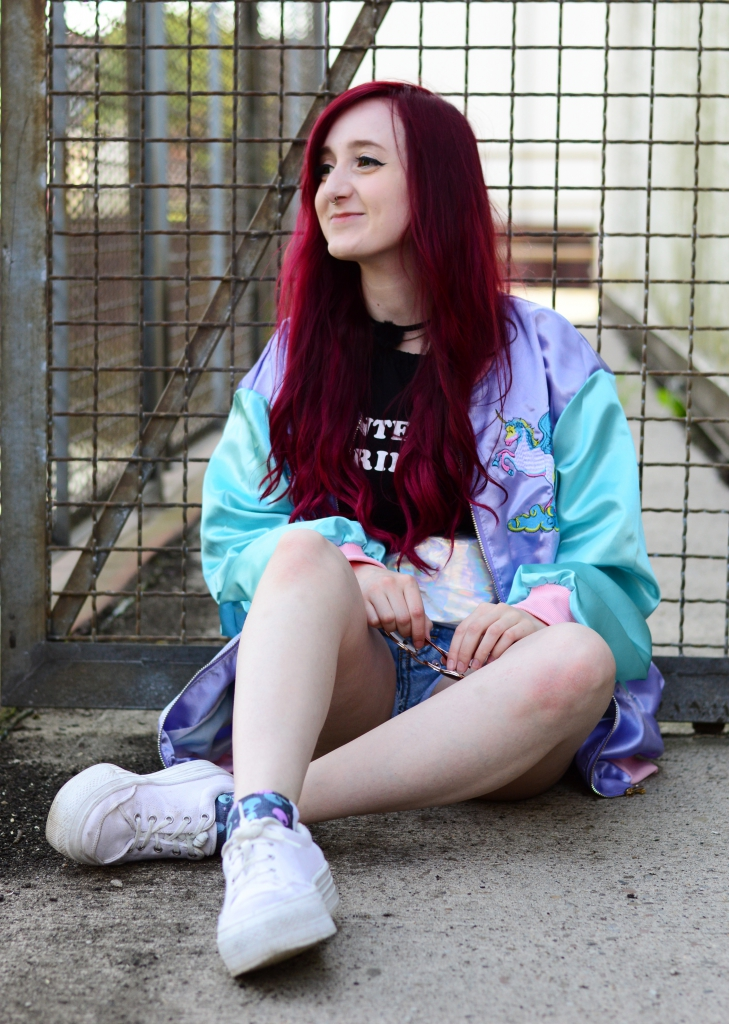 Outerspacestyle Unicorn Bomber Jacket